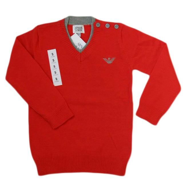 Фото 1: Красный пуловер для мальчиков