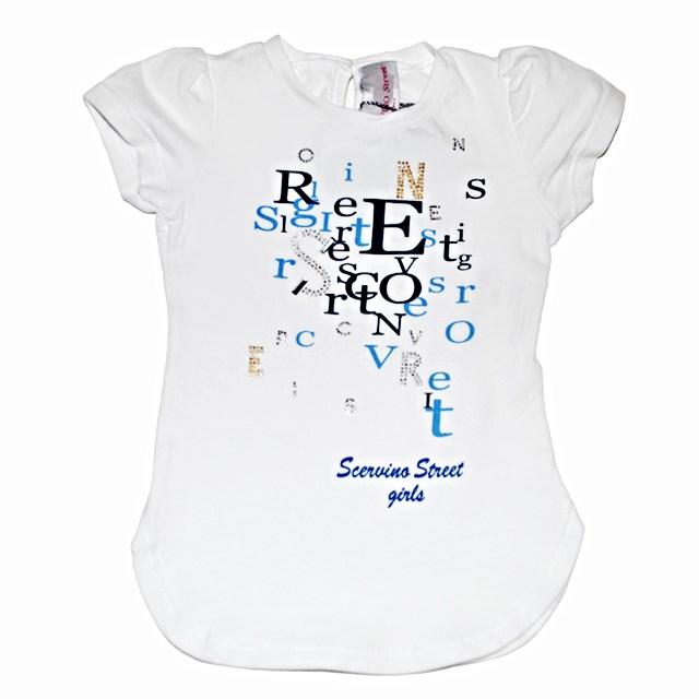 Фото 1: Светлая футболка SCERVINO Street для маленьких детей
