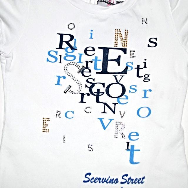 Фото 3: Светлая футболка SCERVINO Street для маленьких детей
