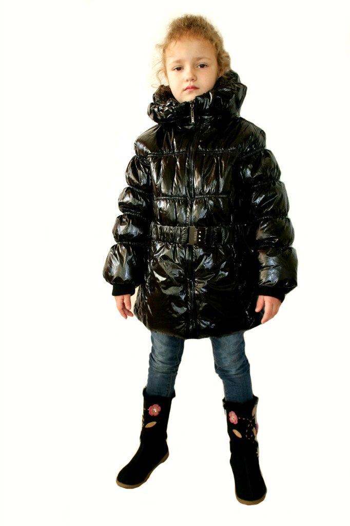 Фото 4: Куртка Ativo черная лакированная с поясом