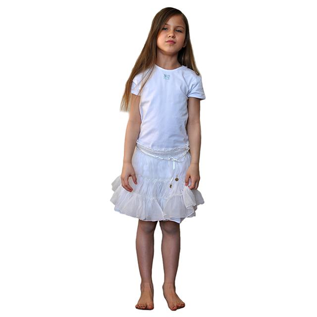 Нарядная белоснежная юбка Patrizia Pepe для девочек. Фото 5