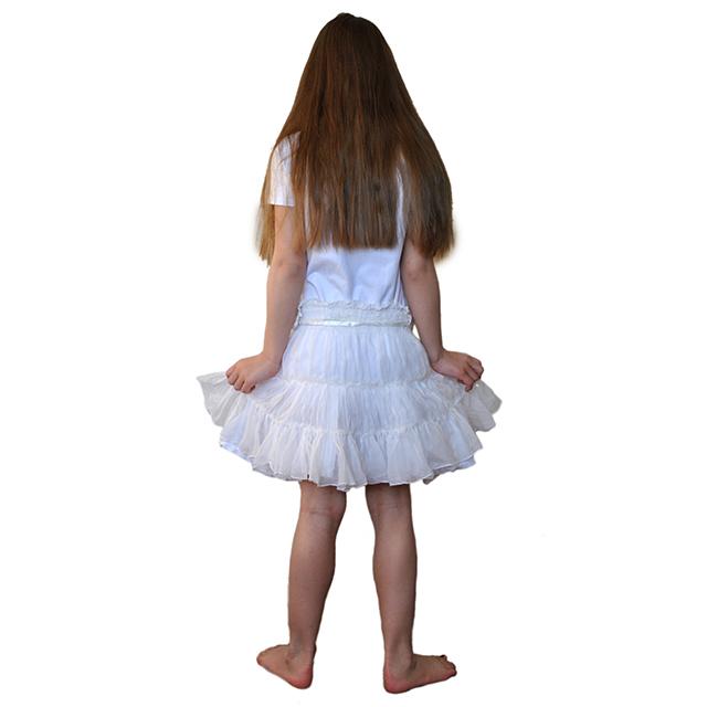 Нарядная белоснежная юбка Patrizia Pepe для девочек. Фото: 6