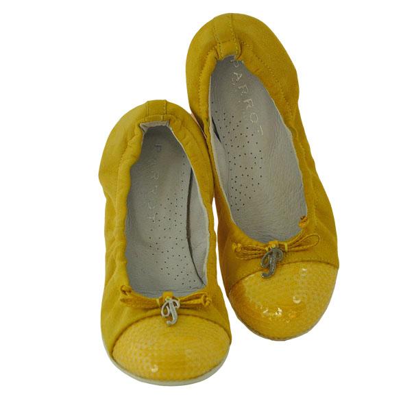Фото 3: Желтые туфли Parrot для девочек
