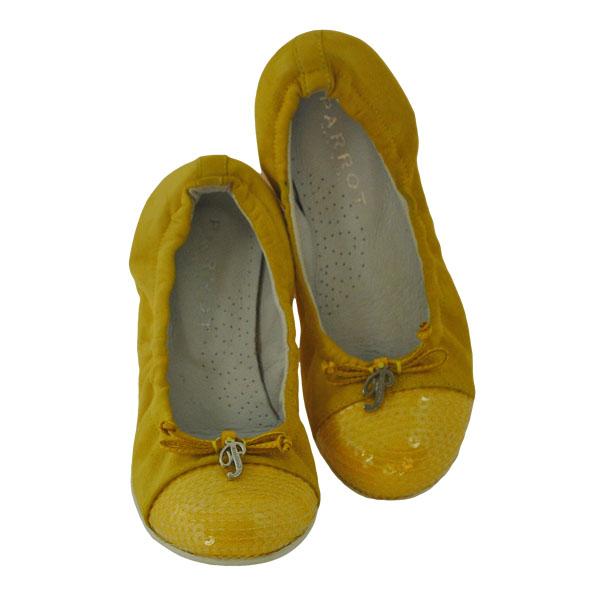 Фото 4: Желтые туфли Parrot для девочек