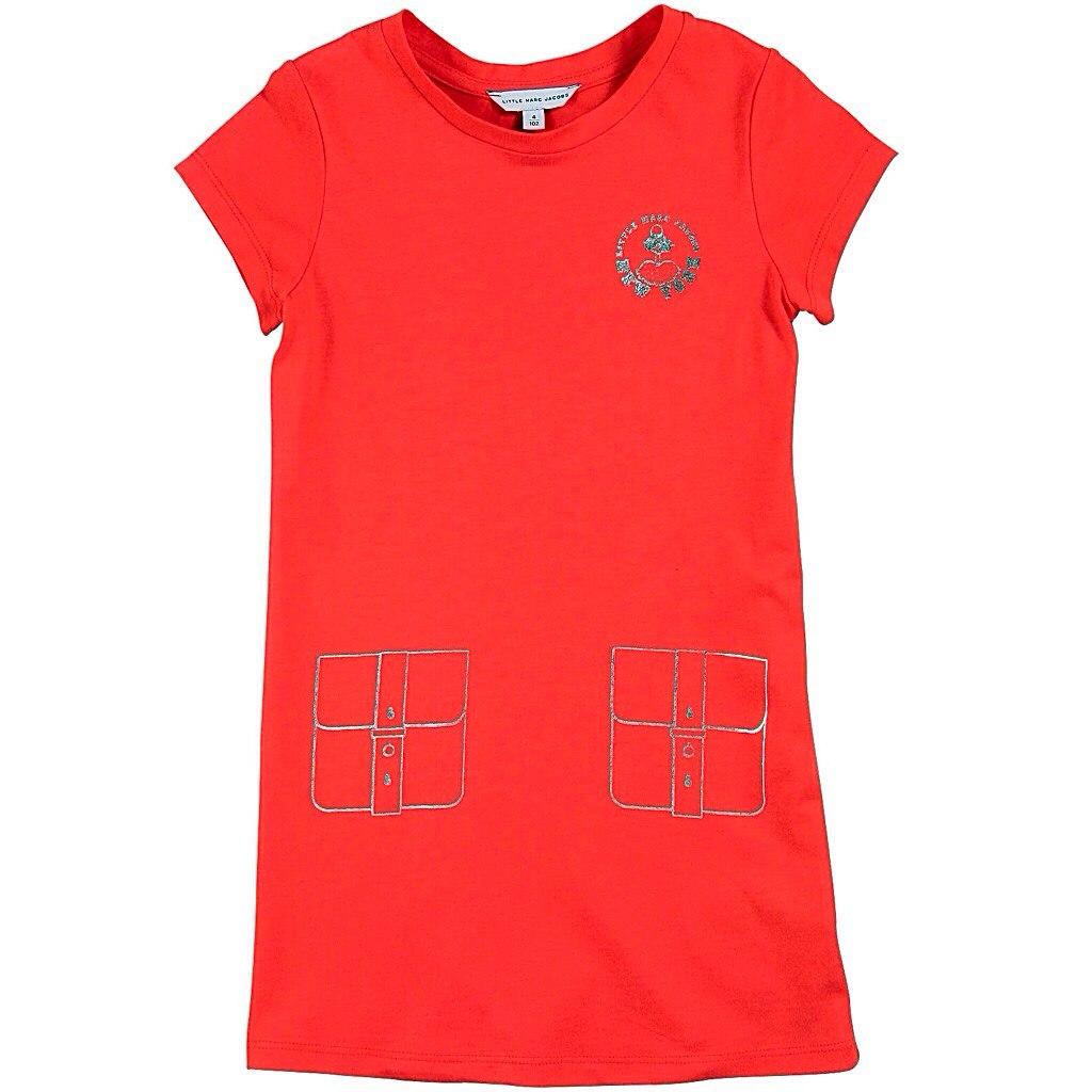 Фото 1: Красное детское платье Little Mark Jacobs