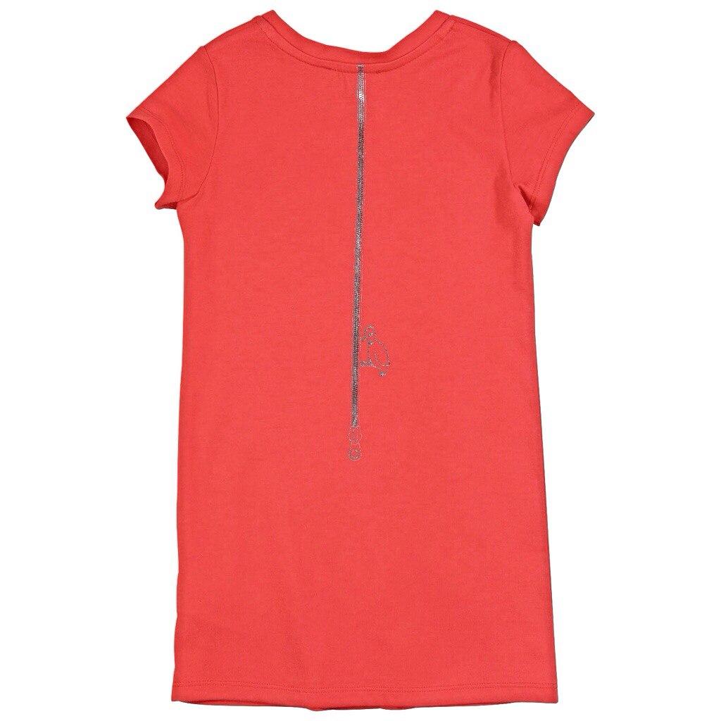 Фото 2: Красное детское платье Little Mark Jacobs