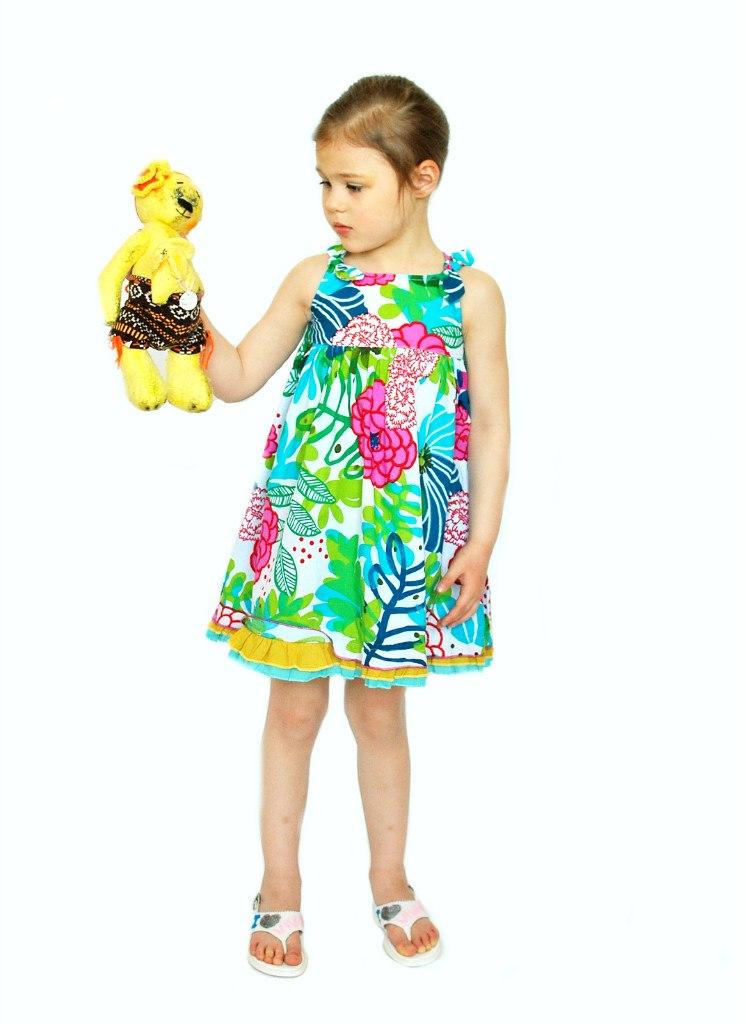 Фото 3: Яркий сарафан для девочек Catimini
