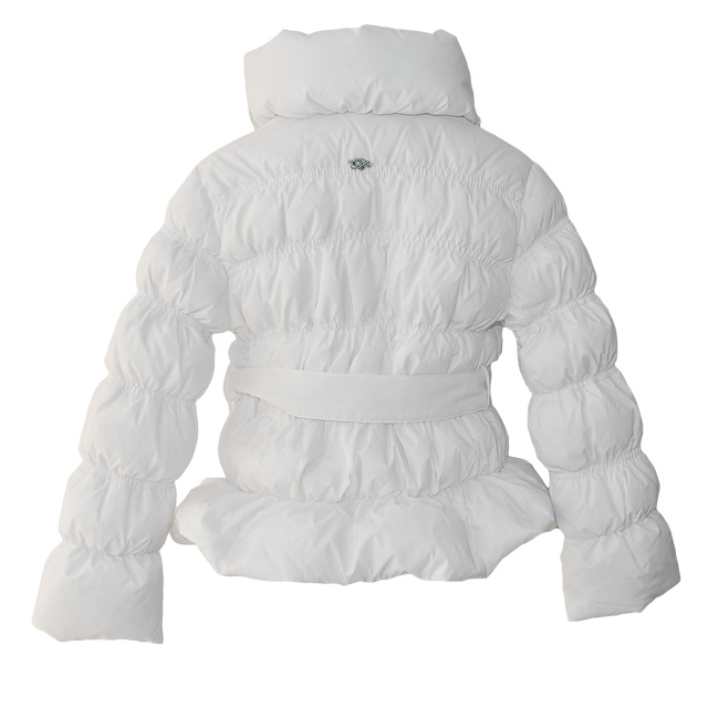 Фото 2: Белоснежная куртка-пуховик Blumarine Baby для девочек