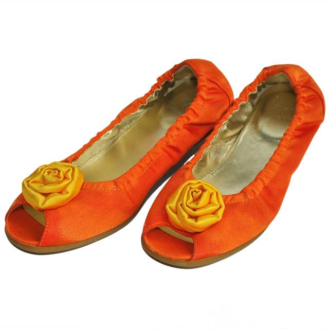 Фото 2: Туфли для девочек il gufo оранжевого цвета