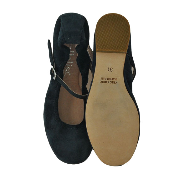 Фото 3: Синие туфли для девочек Ballalisa