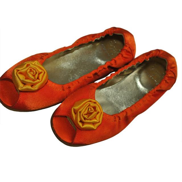 Фото 3: Туфли для девочек il gufo оранжевого цвета