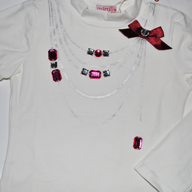Фото 2: Белая футболка с длинным рукавом MIRTILLO