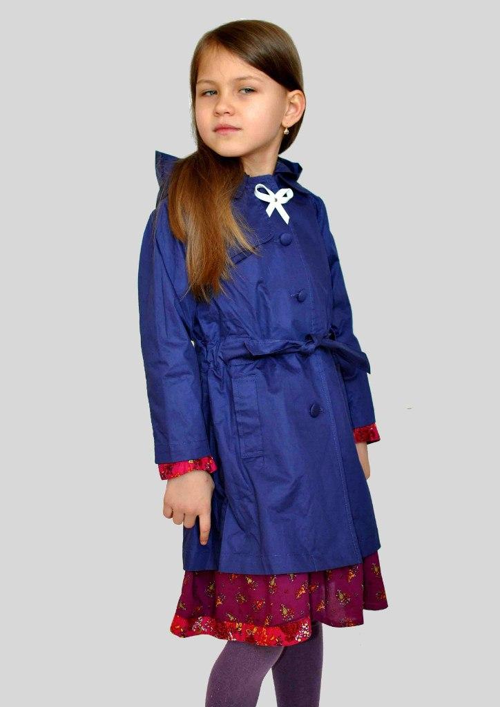 Фото 2: Синий плащ Lili Gaufrette для девочек