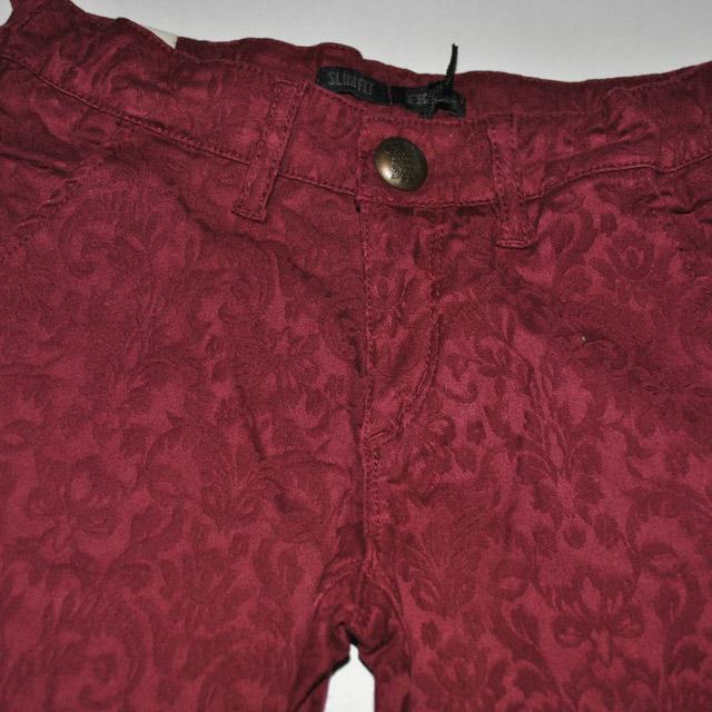 Фото 3: Бордовые джинсы IKKS
