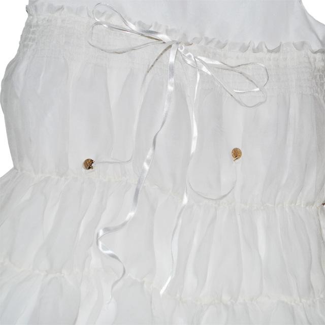 Фото 2: Нарядное белоснежное платье Patrizia Pepe для девочек