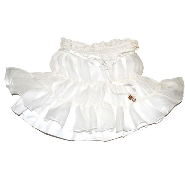 Фото 2: Нарядная белоснежная юбка Patrizia Pepe для девочек