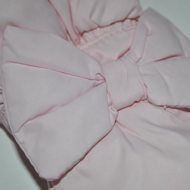 Фото 3: Розовый комбинезон пуховой Blumarine Baby для малышей