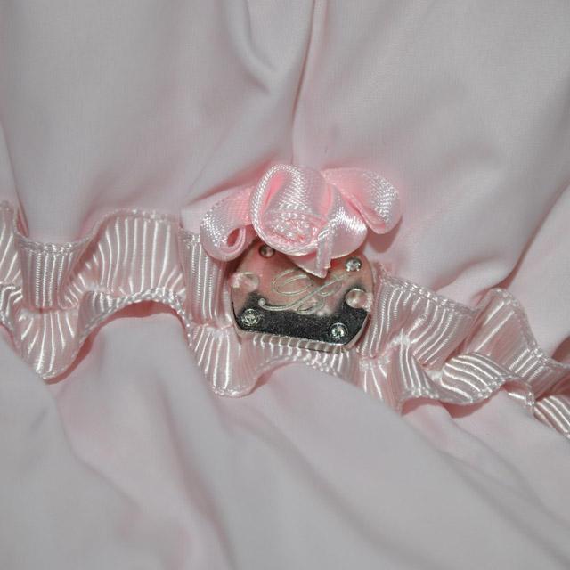 Фото 5: Розовый комбинезон пуховой Blumarine Baby для малышей