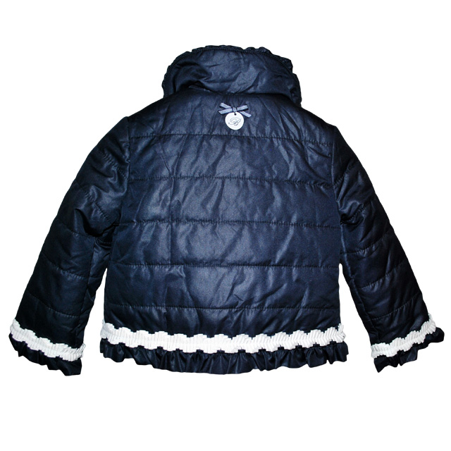 Фото 2: Синяя куртка  для маленьких модниц