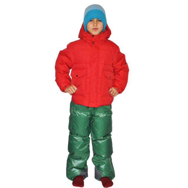 Фото 2: Детский полукомбинезон зеленого цвета