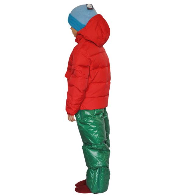 Фото 1: Детский полукомбинезон зеленого цвета