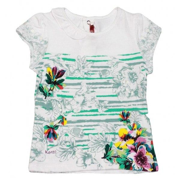 Фото 1: Яркая футболка Kenzo для девочек