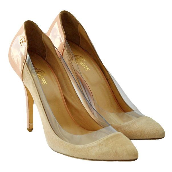 Туфли из замши высокого качества. Каблук шпилька. Картинка: 2