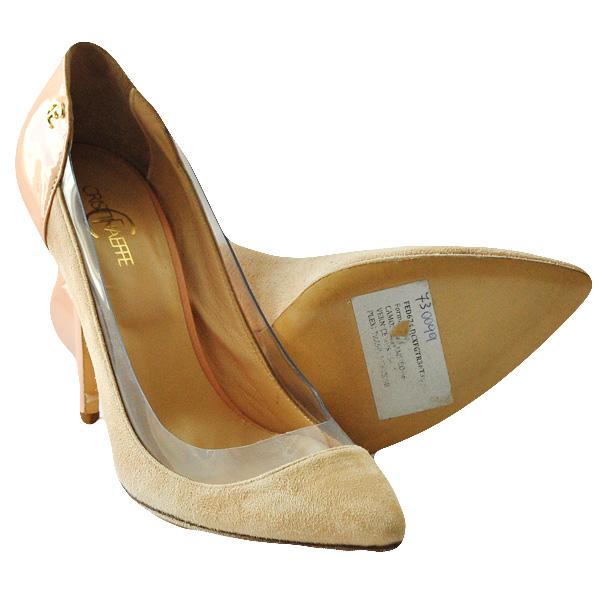 Туфли из замши высокого качества. Каблук шпилька. Картинка: 4