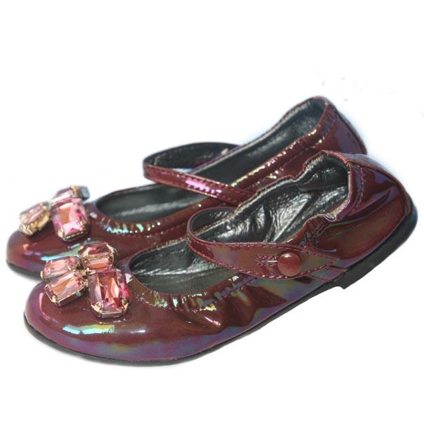 Фото 5: Туфли для девочек Simonetta лакированные