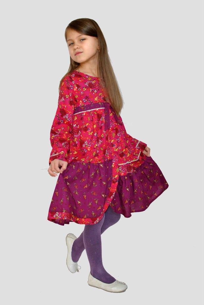 Фото 5: Бордовое платье для девочек Kenzo
