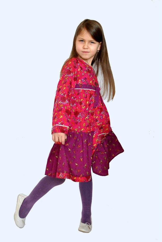 Фото 6: Бордовое платье для девочек Kenzo