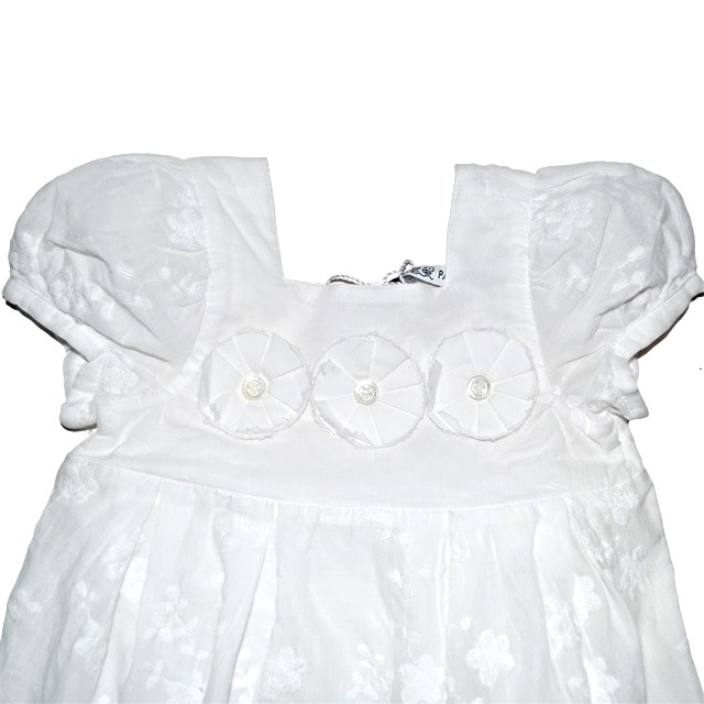 Фото 3: Нарядное белоснежное платье Patrizia Pepe для девочек