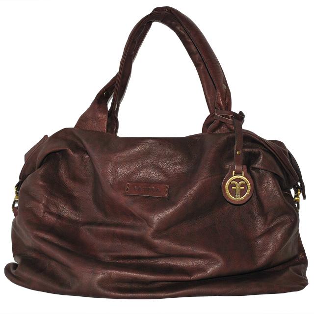 Оригинальная сумка из кожи теленка. Насыщено-бургундский цвет. Сделано в Италии. Фото 1