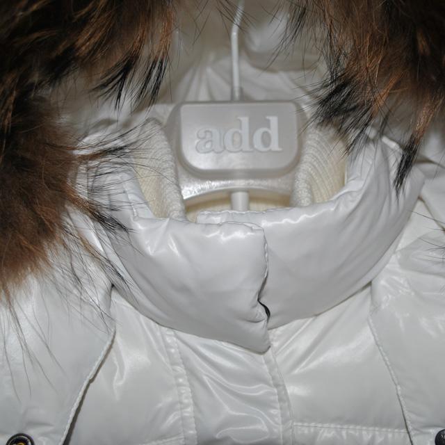 Фото 4: Белый удлиненный пуховик Аdd для девочек