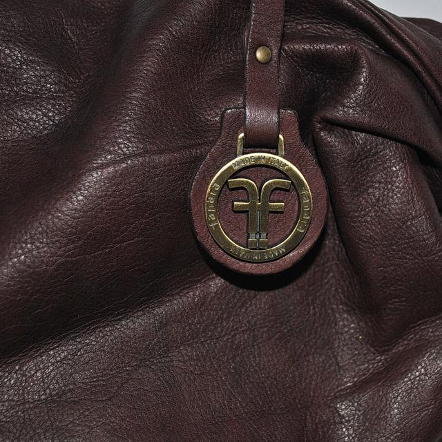 Оригинальная сумка из кожи теленка. Насыщено-бургундский цвет. Сделано в Италии. Фото 2