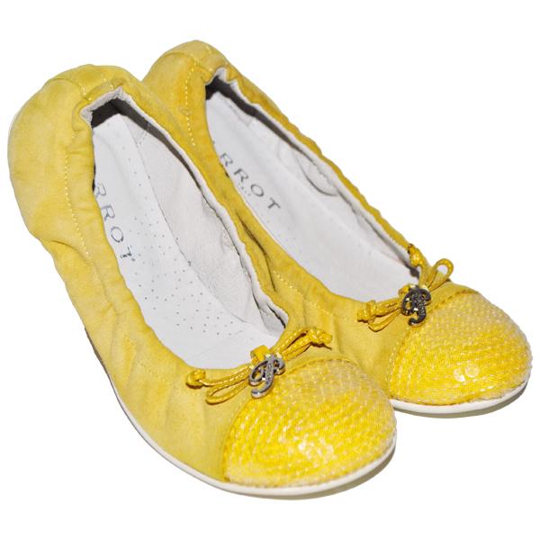 Фото 1: Желтые туфли Parrot для девочек