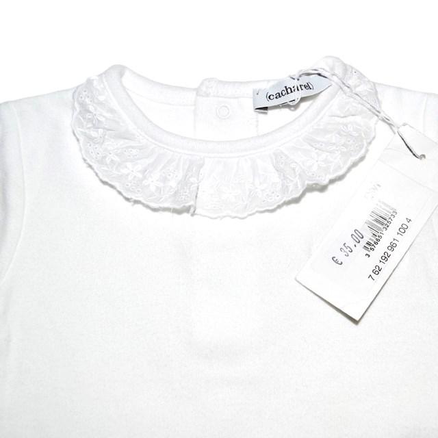 Фото 5: Качественное белое боди Cacharell для малышей