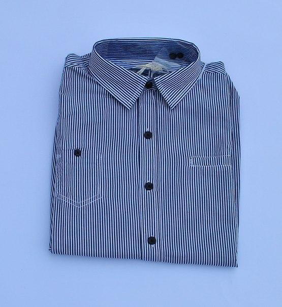 Фото 2: Классическая синяя рубашка в полоску Jacadi