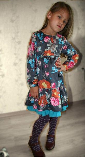 Фото 3: Детское платье Kenzо яркие цветы