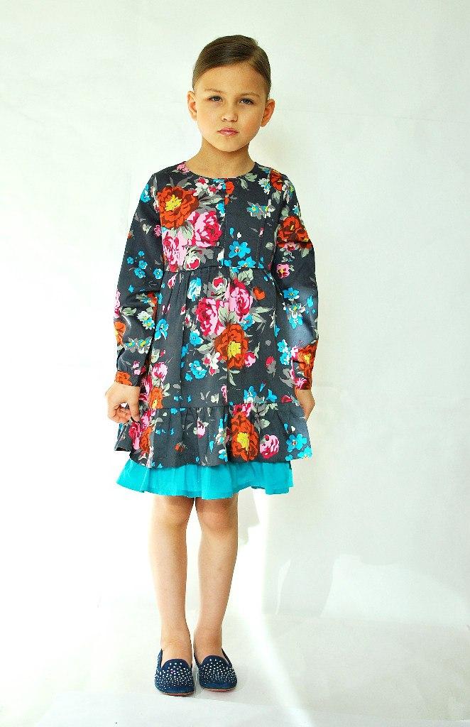 Фото 4: Детское платье Kenzо яркие цветы