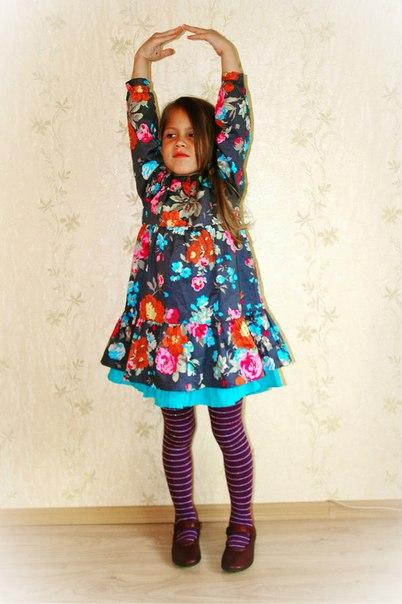 Фото 1: Детское платье Kenzо яркие цветы