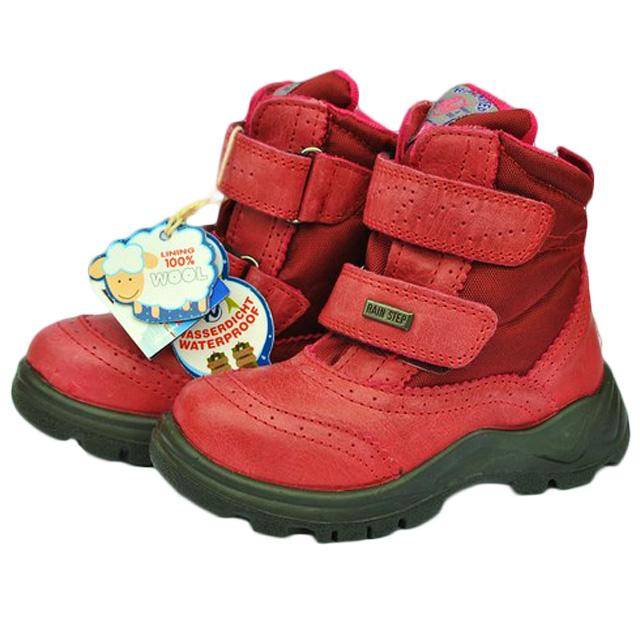 Фото 1: Красные детские зимние сапоги Naturino reinstep