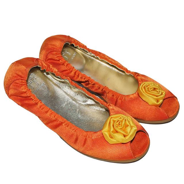Фото 1: Туфли для девочек il gufo оранжевого цвета