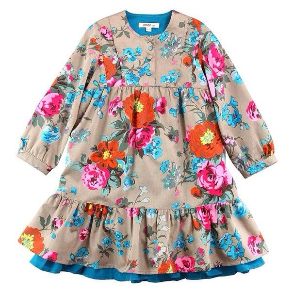 Фото 1: Детское платье Kenzо, яркие цветы