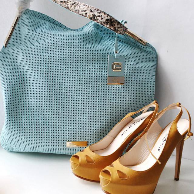 Женская сумка выполнена из натуральной кожи теленка (питона). Удобная вместительная модель, представлена в 2-х цветах бирюзовый, светло-кофейный. натуральная кожа теленка, натуральная кожа питона. Фото 5