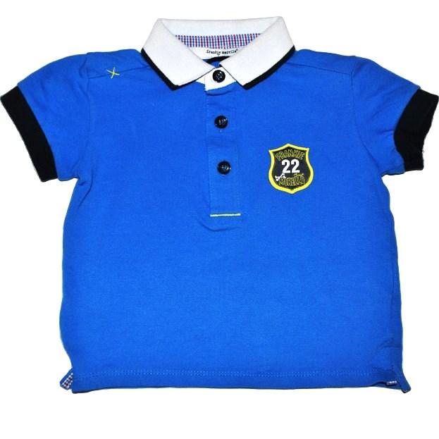 Фото 1: Синяя футболка для малышей Frankie morello