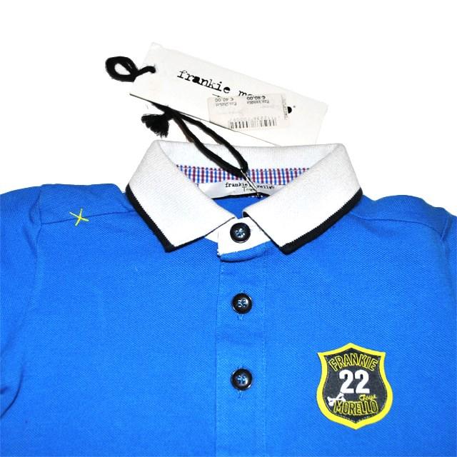 Фото 4: Синяя футболка для малышей Frankie morello