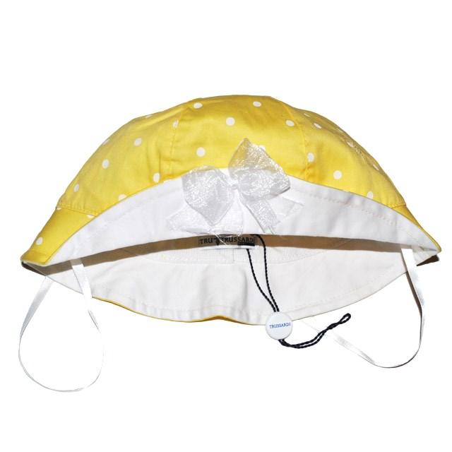 Фото 1: Желто-белая панама с декоративным бантиком