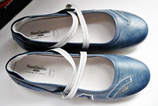 Фото 3: Кожаные туфли Nero Giardini для девочек