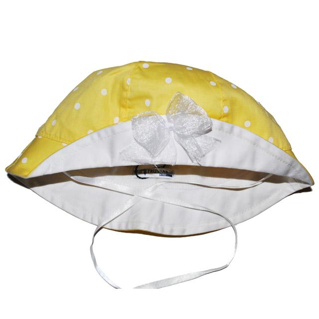 Фото 3: Желто-белая панама с декоративным бантиком
